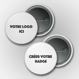 Badge personnalisable - 32 mm